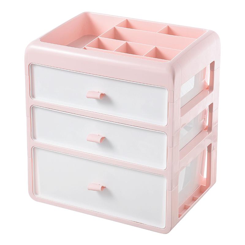 内衣收纳盒抽屉式三合一学生宿舍衣柜袜子内裤分类整理箱塑料家用