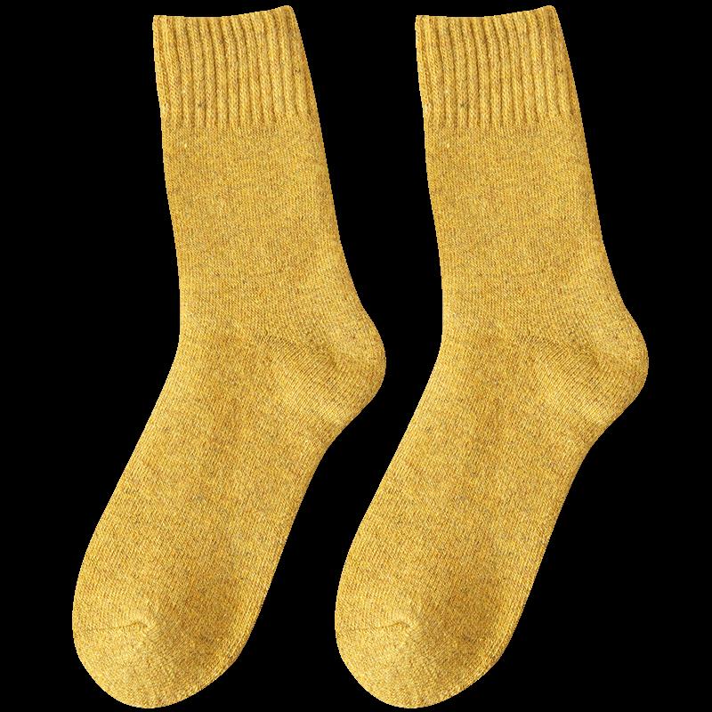 【悠素】加绒加厚保暖中筒毛圈袜7双