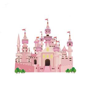 卡通公主儿童房间装饰品墙纸贴画