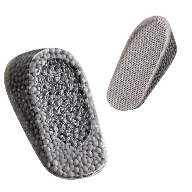 2双boost内增高鞋垫女男隐形增高神器硅胶马丁靴正高爆米花增高垫