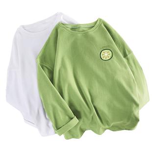 長袖T恤女寬鬆韓版ins潮純棉薄款上衣服2020年春秋學生百搭打底衫
