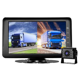 大小貨車行車記錄儀雙鏡頭前後雙錄高清夜視倒車影像一體機12V24V