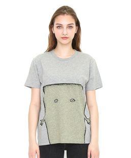 不退換貨 潮牌紅牌g家合作款鬼太郎灰色磚牆壁咚哥短袖T恤 親子裝