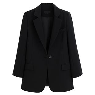 休闲黑色西装外套女2019新款修身英伦风ins网红小西服上衣韩国
