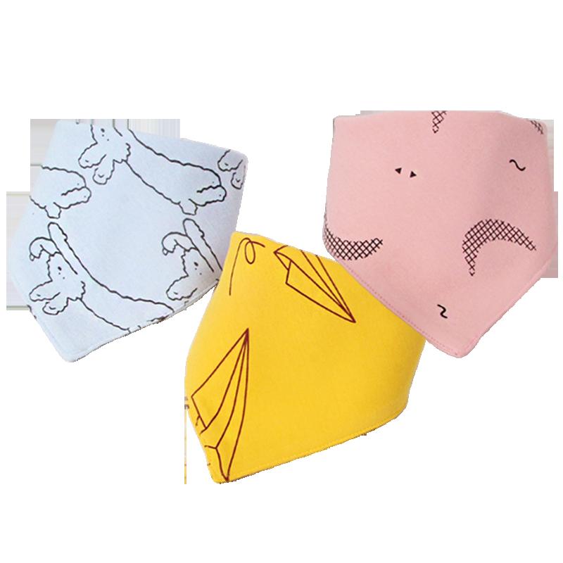 5/3条装安耐士宝宝口水巾纯棉婴儿三角巾新生男女童围嘴柔软吸水