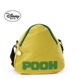 迪士尼單肩斜挎女包輕便尼龍布字母撞色休閒女包三角形包包粽子包