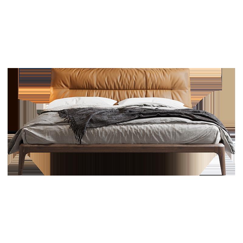 北欧床简约小户型软靠1.5米实木床牌子差不差?