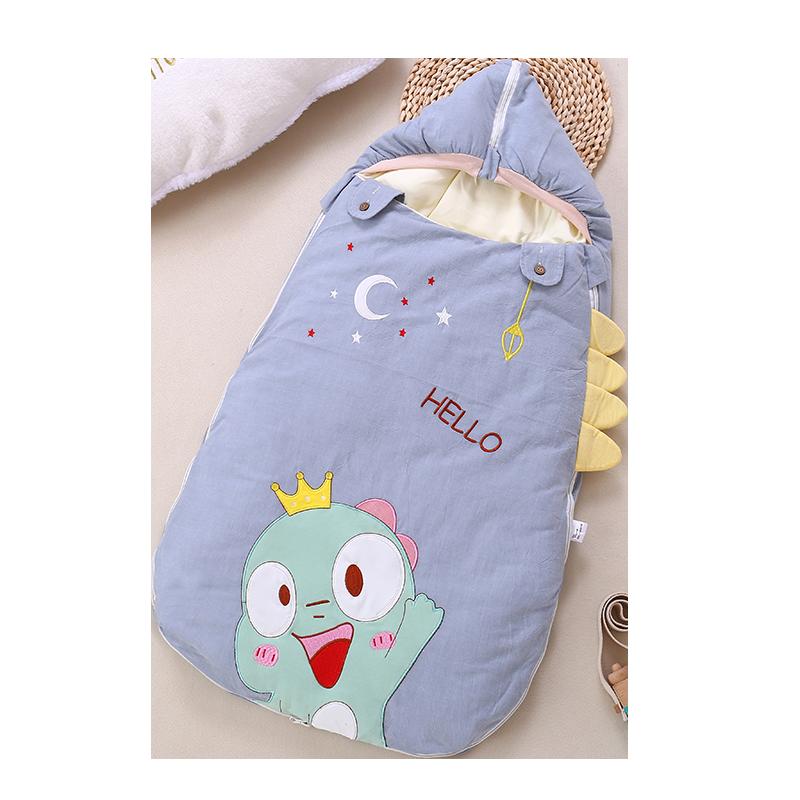 婴儿睡袋纯棉加厚宝宝防踢被神器四季通用