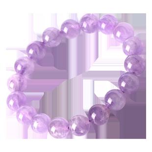 晶立方紫鋰輝手鍊透體貓眼效應水晶手串收藏款薰衣草浪漫紫色飾品