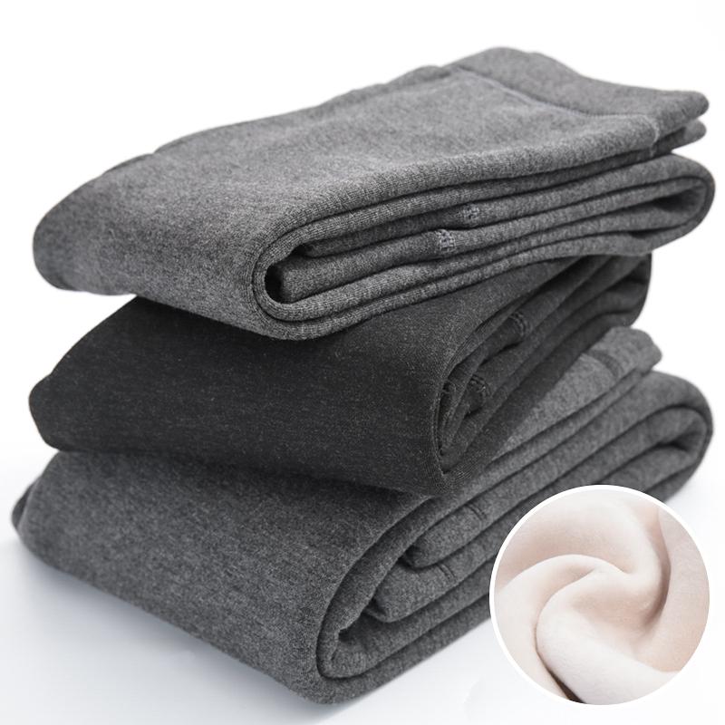 儿童秋裤男童保暖裤一体加绒中大童内穿中大童打底冬加绒加厚裤子