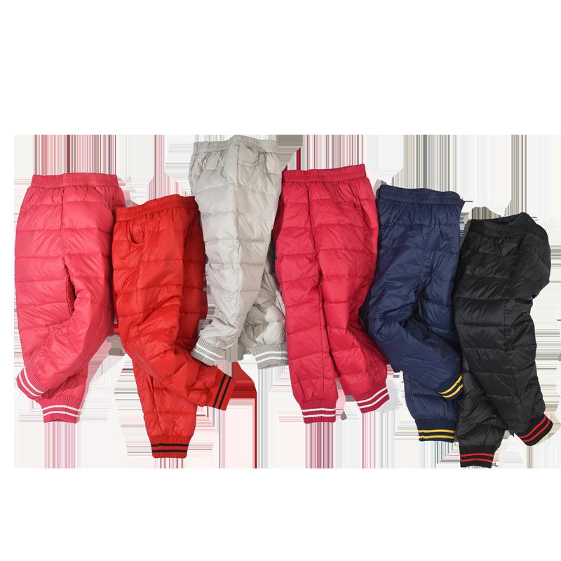 童装轻薄儿童羽绒裤女童男童小童小孩宝宝外穿加绒加厚羽绒裤冬季