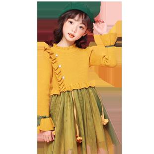 秋裝女童連衣裙加絨兒童秋季