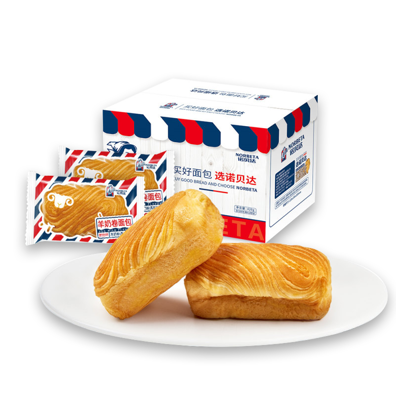 诺贝达手撕小面包夹心营养学生早餐食品养胃口袋软面包零食品整箱