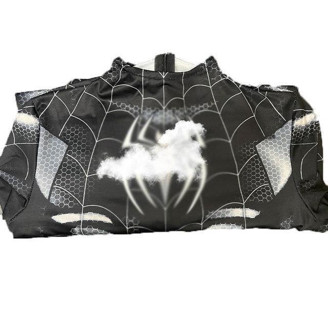网红性感蜘蛛侠紧身衣连体女开裆黑色成人抖音主播cosplay服套装