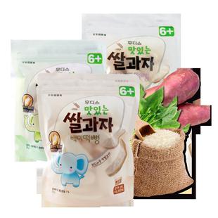 韩国进口日东福德食米饼三磨牙饼干