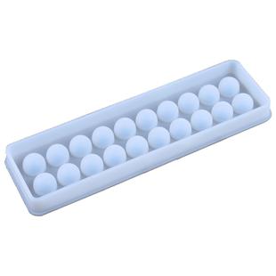 派喜diy手工白色20格磨砂球形硅胶