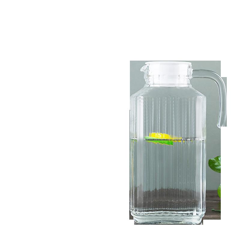 凉水壶玻璃冷水壶家用耐热高温白开水壶果汁扎壶大容量鸭嘴壶套装
