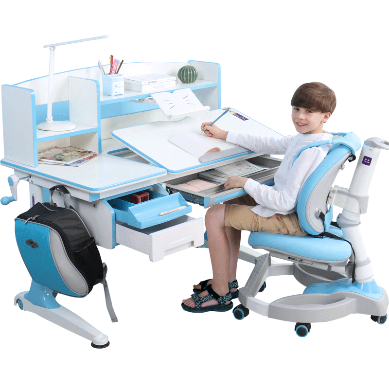 乐仙乐居儿童学习桌实木书桌小学生写字桌椅组合套装升降课桌椅子
