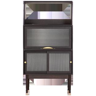 吱音答案酒櫃北歐實木多功能家用靠牆櫃子現代簡約展示儲物櫃一體
