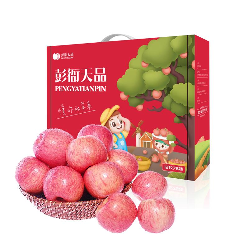 洛川红富士苹果礼盒5斤