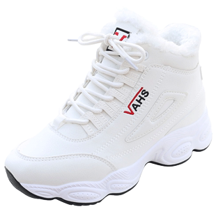 加绒加厚冬鞋高帮休闲跑步运动鞋