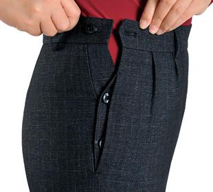 老式旁開口女褲直筒高腰寬鬆中老年媽媽長褲秋冬中年婦女褲子秋季