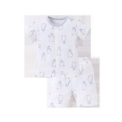 浪比熊儿童保暖套装纯棉春秋季家居服0-6岁婴儿睡袋搭宝宝睡衣