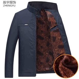 中年男装2018新款加绒加厚40岁夹克