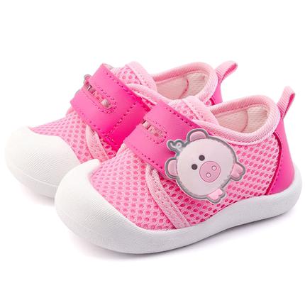 毛毛虫女宝宝1-3岁2019夏网布鞋子