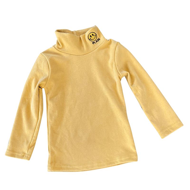 儿童打底衫秋冬加绒加厚女童男童长袖半高领洋气秋季宝宝保暖上衣