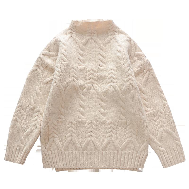 女童毛衣2018韩版套头秋冬装新款中大童洋气毛线衣加厚儿童打底衫