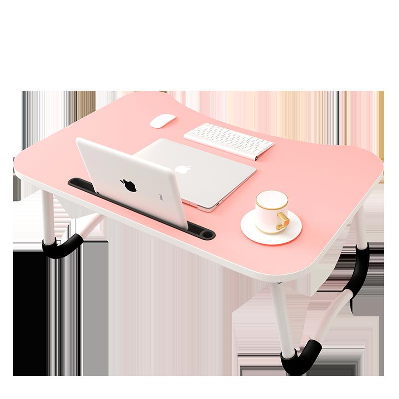 床上小桌子可折叠笔记本电脑懒人做桌学生寝室学习用书桌宿舍神器板简易家用迷你上铺儿童可爱少女心多功能桌