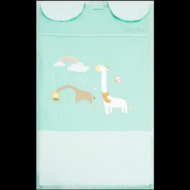 爱贝湾保暖一体睡袋儿童秋冬款婴儿宝宝防踢被四季通用款大童神器