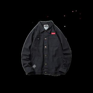 牛仔工裝外套男士韓版潮流休閒上衣春秋季余文樂潮牌大碼加厚夾克