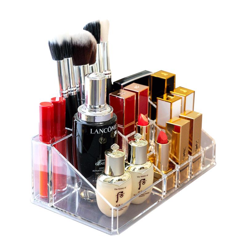 口红架收纳盒桌面收纳整理 透明抖音网红款口红唇釉展示架置物架