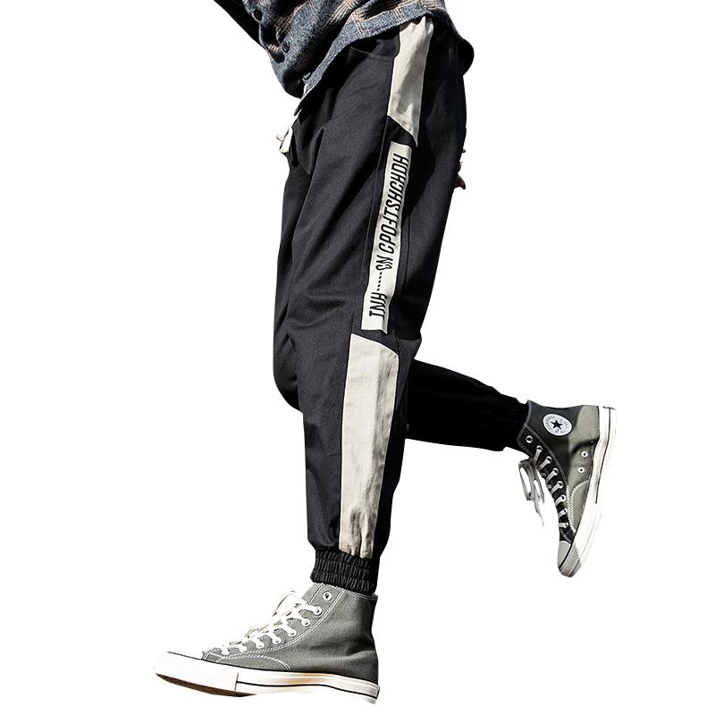 工装裤男韩版潮流港风男士休闲裤宽松学生帅气潮牌哈伦裤子原宿风