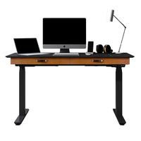 智芯 电动升降桌站立式办公台式电脑桌卧室可升降书桌带抽屉收纳