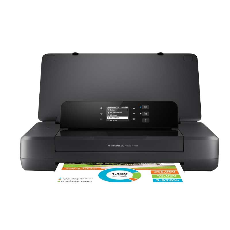 惠普HP OfficeJet 200 彩色喷墨移动便携式打印机A4商务小型迷你移动办公无线WIFI热点照片文件合同 oj200