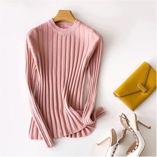 网红打底衫纯色显瘦羊毛衫