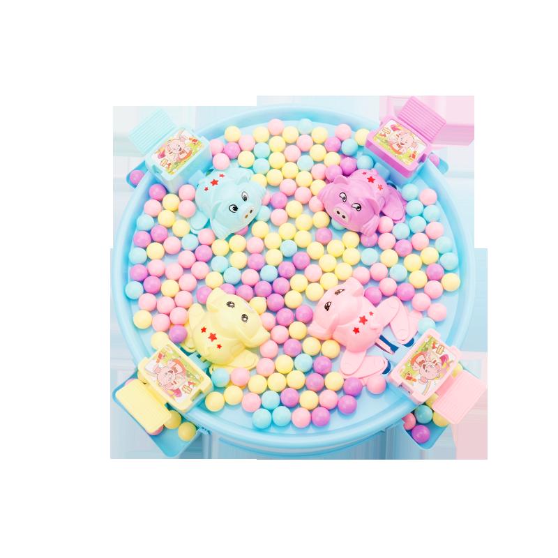 抖音同款疯狂贪吃青蛙吃豆玩具亲子互动吃豆豆球游戏豆子儿童益智