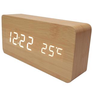 創意電子鬧鐘學生用卧室靜音牀頭夜光智能簡約北歐風格個性懶人