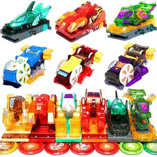 正版暴力爆烈奧迪雙鑽爆裂飛車4代獵天魄御星神煉獄3合體玩具套裝
