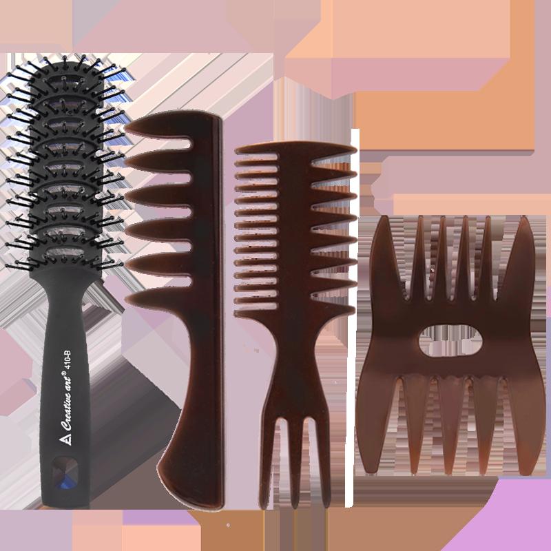 油头梳子造型梳神器男士专用大背头大齿吹头发发型定型蓬松排骨梳