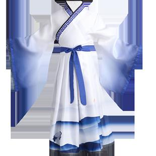 兒童古裝漢服女童國學服男三字經弟子規演出服襦裙中國風表演服裝