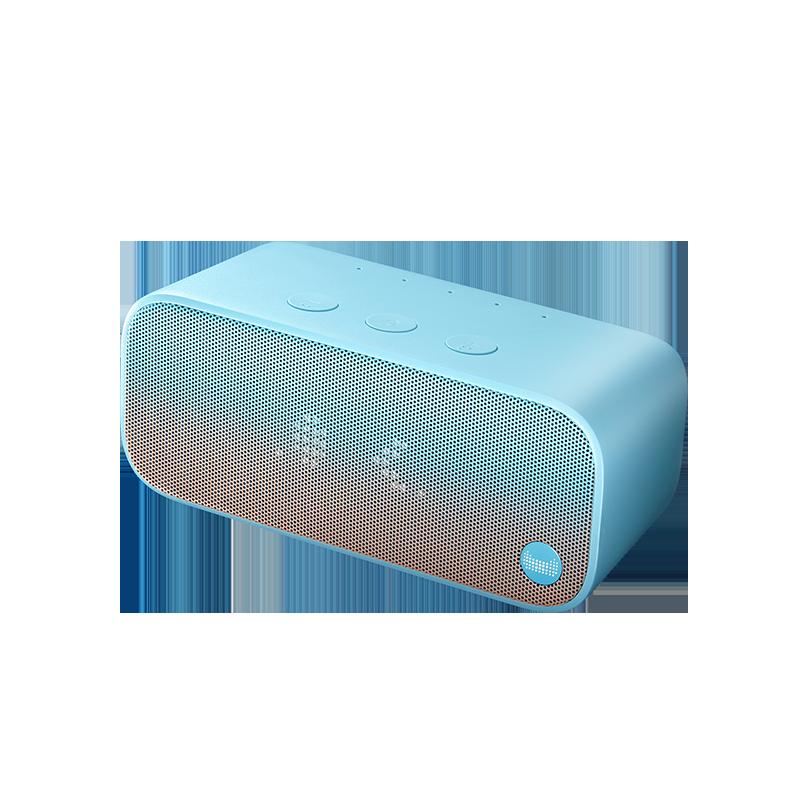 天猫精灵IN糖蓝色智能音箱硬糖方糖蓝牙音响AI智能闹钟家用机器人