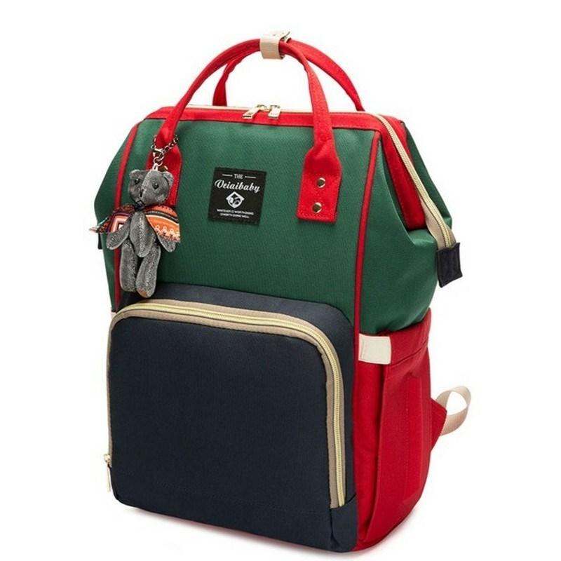 米几双肩包母婴包韩版多功能妈妈包布包大容量宝妈包时尚外出旅游