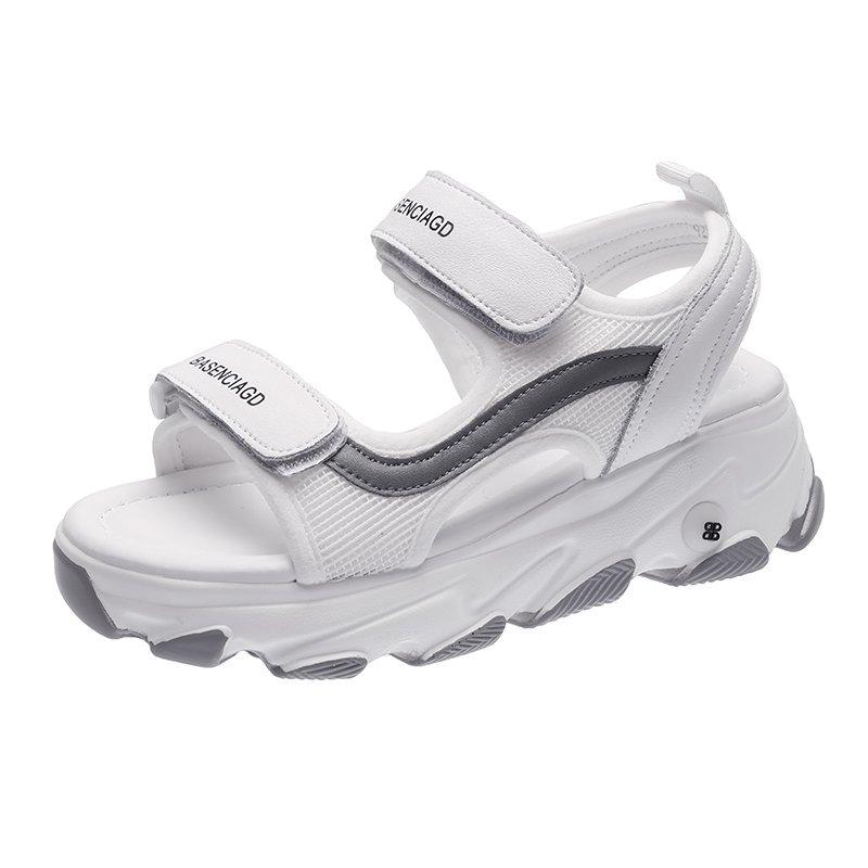 厚底凉鞋女2020年新款夏季网红时尚休闲百搭松糕罗马运动时装凉鞋
