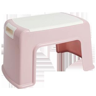 塑料小凳子ins北歐家用客廳加厚兒童板凳時尚創意現代矮方凳膠登