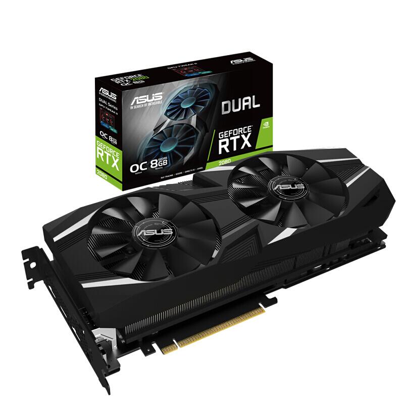 Asus/华硕DUAL-GeForce RTX 2080-O8G独显8g台式机电脑游戏显卡