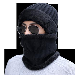 男士冬天韩版防寒加绒加厚毛线帽